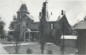 "Known as ""Elmwood"" it was built by Edwin Parker and consisted of 285 acres."
