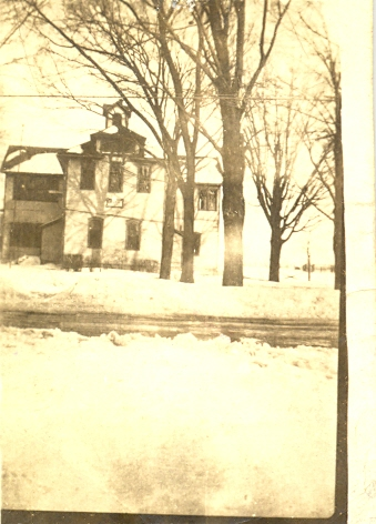 Old Elba High School located at what is now the park